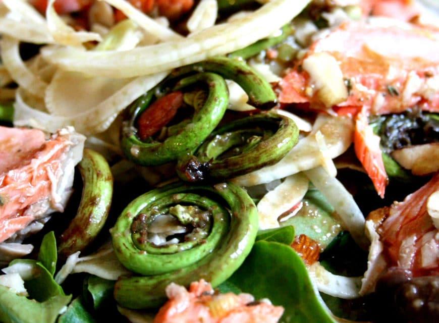 Wild Salmon Springtime Salad