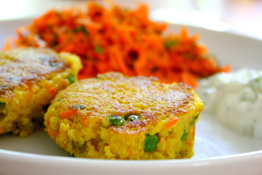 Curried Millet Cakes