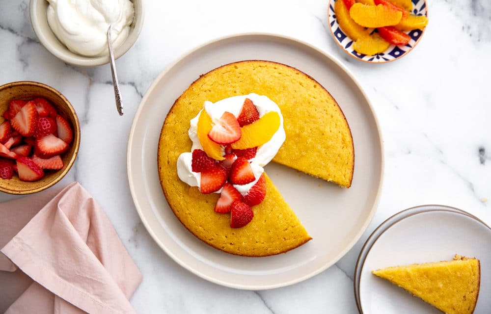 Healthy Almond Coconut Cake (Paleo, Naturally Sweetened, Dairy-Free)