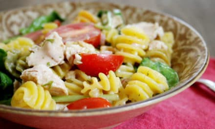 Mediterranean Pasta with Tuna & No-Cook Dijon Dill Sauce