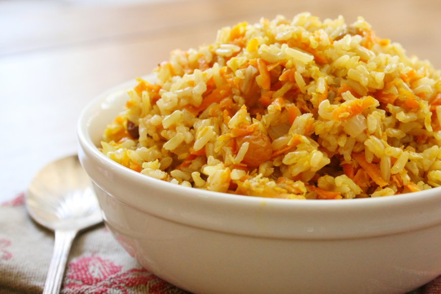 Curried Carrot Coconut Rice