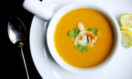 Buttercup Squash Soup with Coconut & Curry