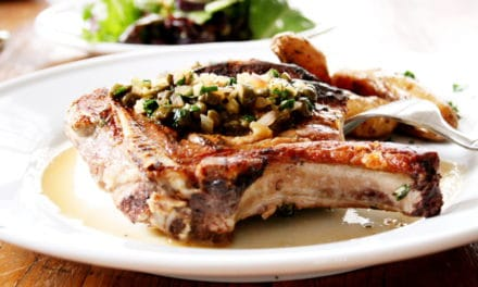 Pork Chops with Shallot Caper Sauce