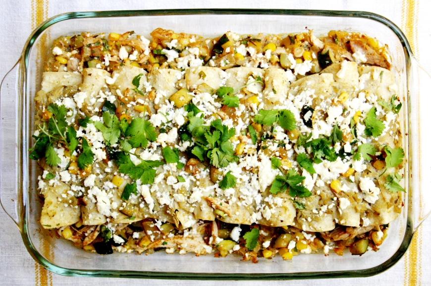 Green Salsa Enchiladas
