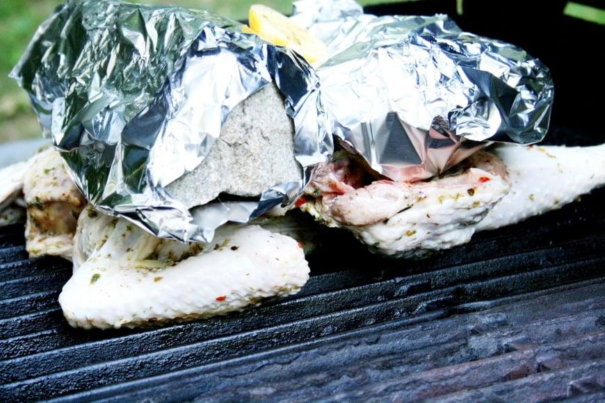 Grilled Chicken Under a Rock