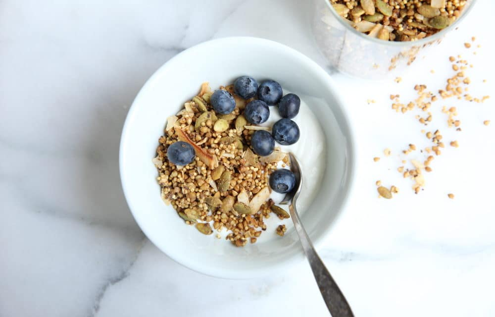 Toasted Buckwheat & Millet Granola (GF, Vegan, Sugar-free option)
