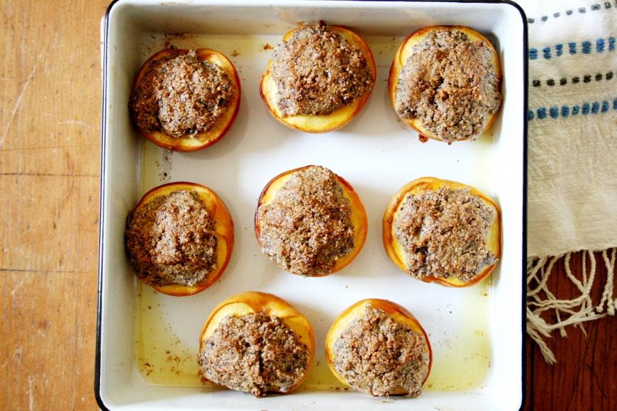 Hazelnut Peach Crisps
