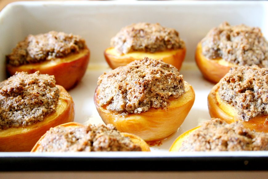 Hazelnut Peach Crisps (GF)