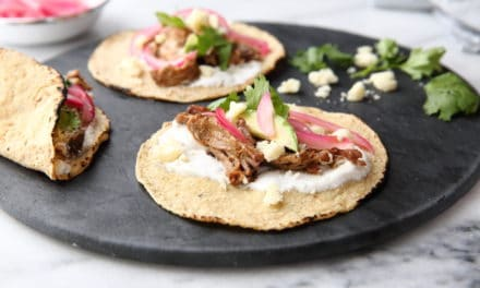 Slow Cooker Carnitas with Quick Pickled Red Onions