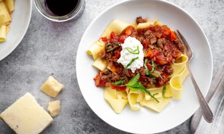 Easy Lamb Ragu with Fresh Mint & Ricotta