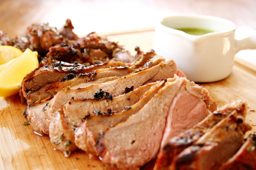 Herb Marinated Grilled Leg of Lamb