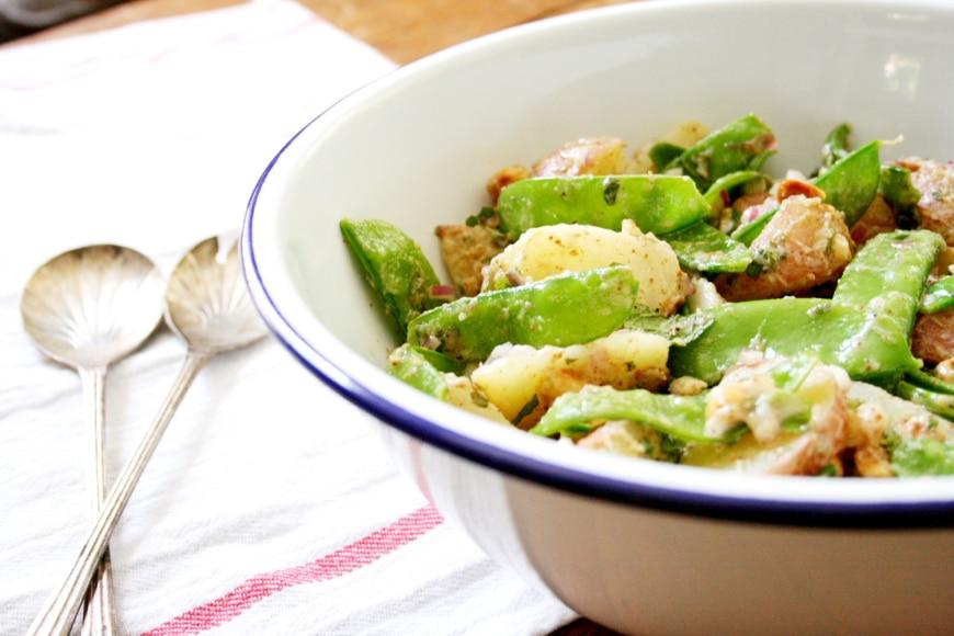 Potato & Snow Pea Salad