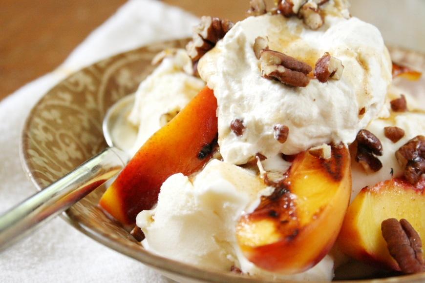 Cardamom Peach Sundae