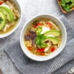 Mexican White Bean & Chicken Soup (Slow Cooker or Stovetop!)