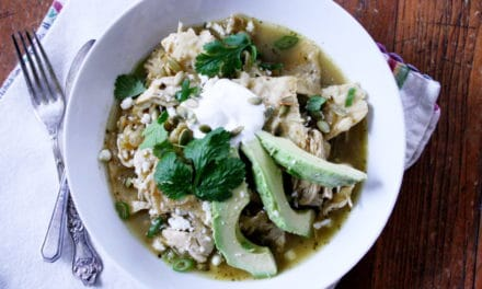 Jess's Chicken & Tomatillo Chilaquiles