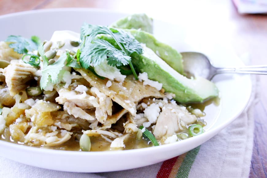 Chicken & Tomatillo Chilaquiles