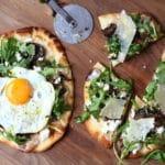 Flatbread Pizzas on cutting board