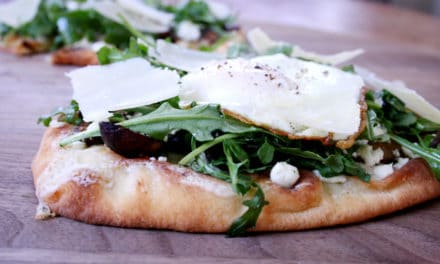 Roasted Mushroom, Goat Cheese & Arugula Flatbreads