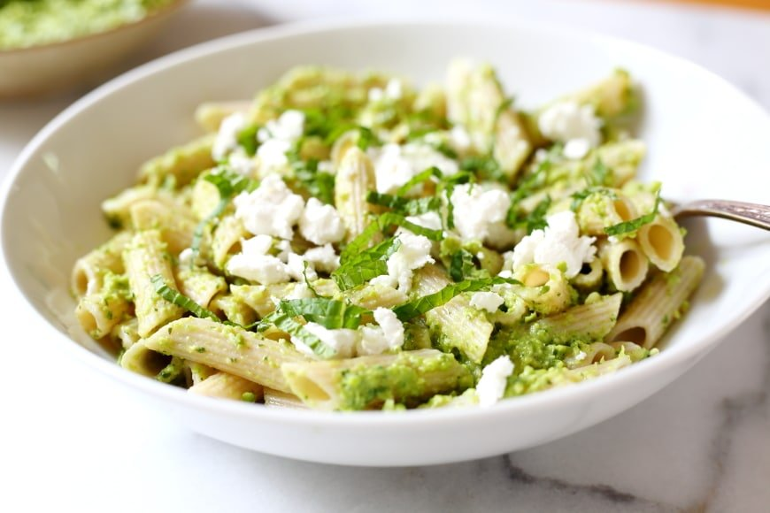 This vibrant pea pesto will brighten up any meal!