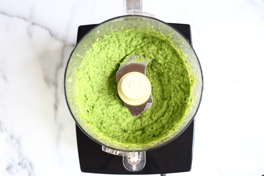 This vibrant, vegan pea pesto will brighten up any meal!