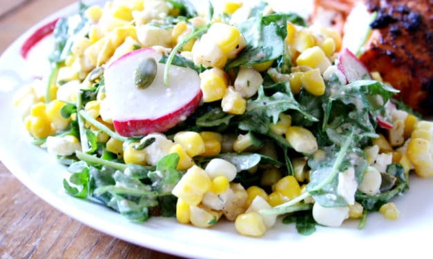Sweet n' Smoky Corn & Arugula Salad
