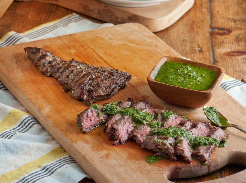 New Book! and… Tuscan Grilled Skirt Steak with Salsa Verde