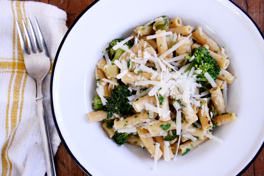 Broccoli pasta with gremolata