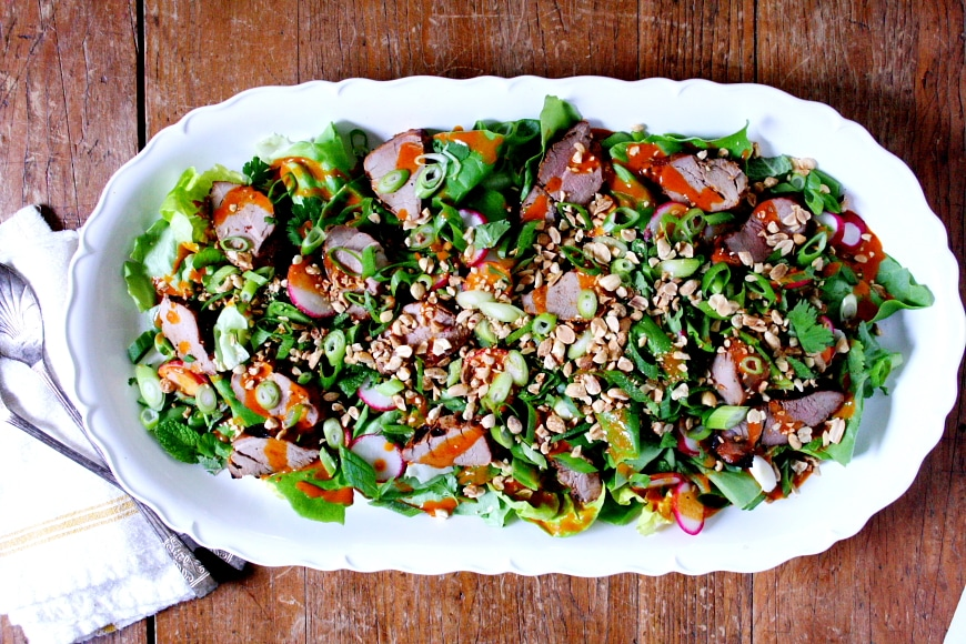 Gochujang Grilled Pork Salad | Gluten Free