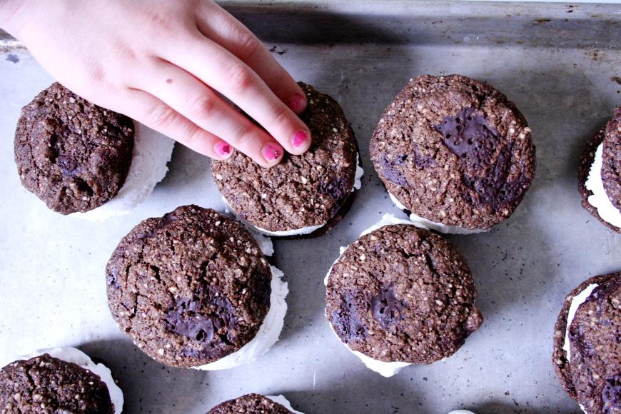 Chocolate Coconut Ice Cream Sandwiches | Vegan, Gluten-Free