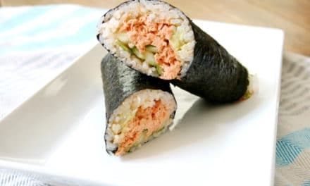 Spicy Salmon Sushi Burrito Wraps