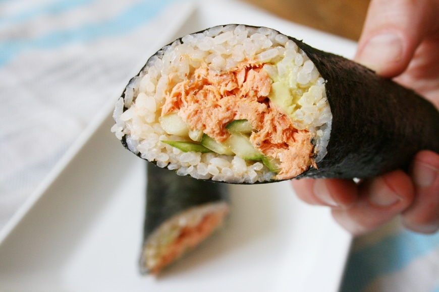 Spicy Salmon Sushi Burrito