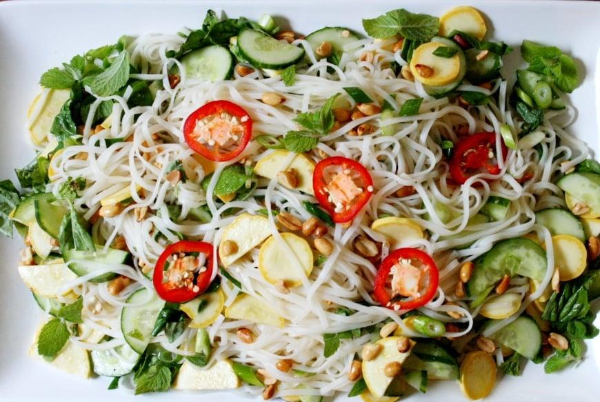 Thai Style Rice Noodle Salad