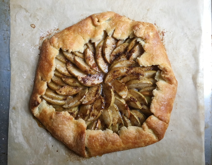 Apple galette with easy gluten free pie crust