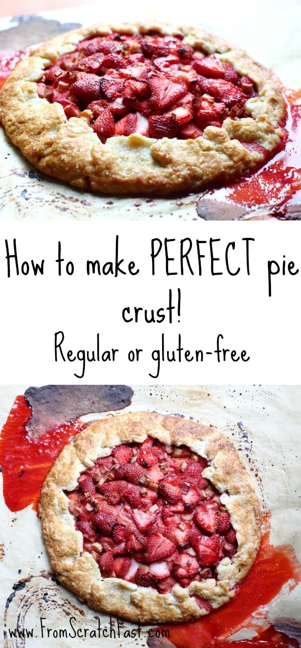 Learn how easy it is to make perfect pie crust, either regular OR gluten-free!