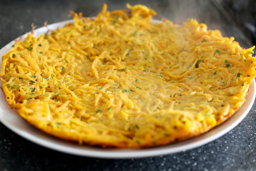 Butternut Squash Latke Cake