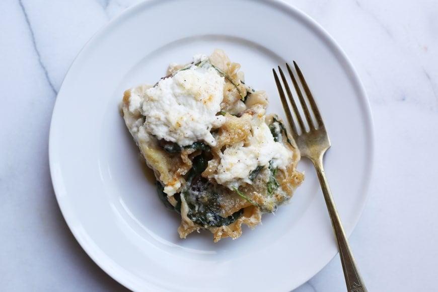 Mushroom & Spinach Skillet Lasagna