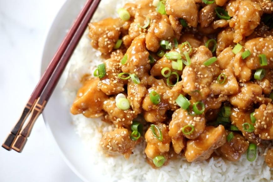 Sesame Chicken from Scratch (Gluten-Free)