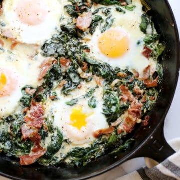Simple Baked Eggs Recipe | Nicki Sizemore