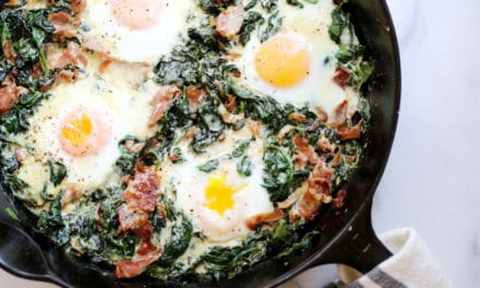 Spinach Baked Eggs (an easy breakfast OR dinner!)
