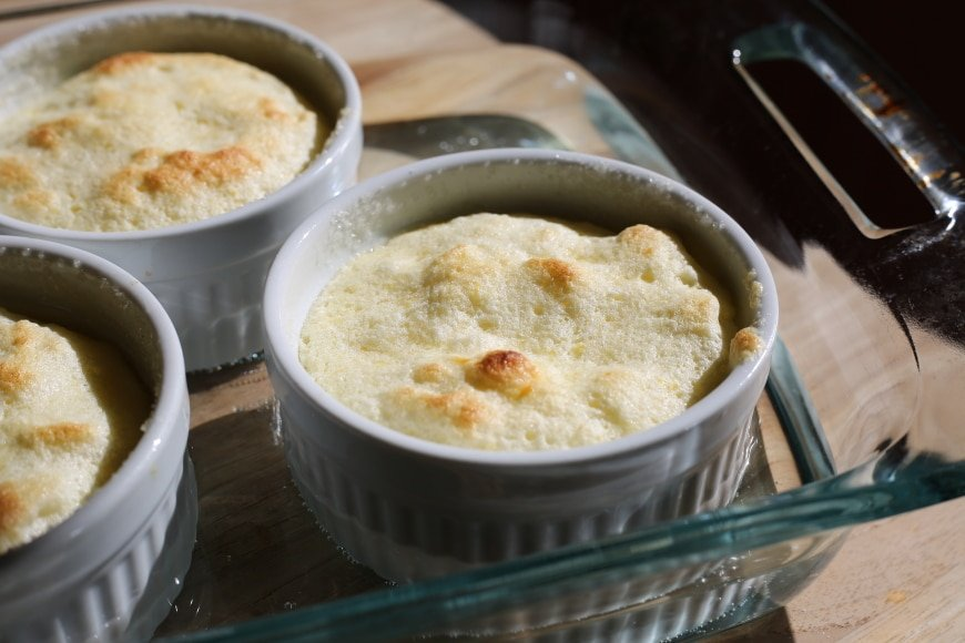 Gluten Free Lemon Pudding Cakes