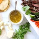 Grilled Skirt Steak with Easy Mojo Sauce