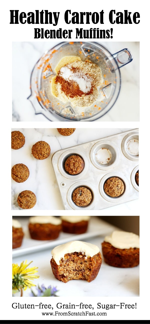 Easiest-ever carrot cake muffins that are gluten-free, grain free and naturally sweetened!