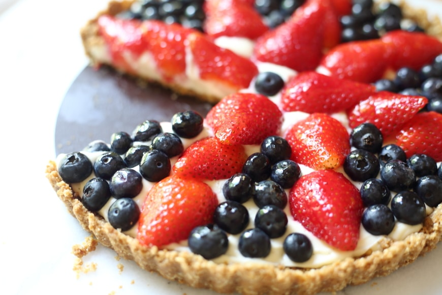 This gorgeous (gluten-free!) berry tart looks impressive, tastes even better, and couldn't be easier to make!