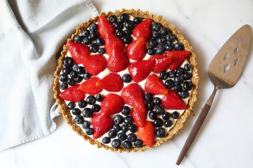 EASY Gluten Free Berry Tart with Creamy Almond Filling