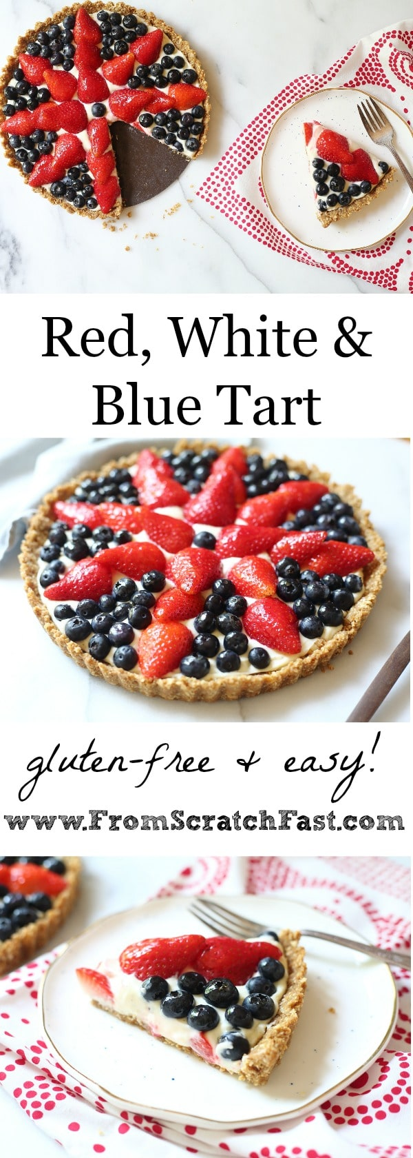 This gorgeous (gluten-free!) berry tart looks impressive, tastes even better, and couldn't be easier to make, perfect for the Fourth of July!