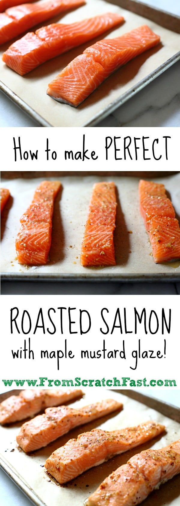 Perfectly cooked roasted salmon is one of the quickest and easiest of weeknight meals, and this maple-glazed version will rock your world.