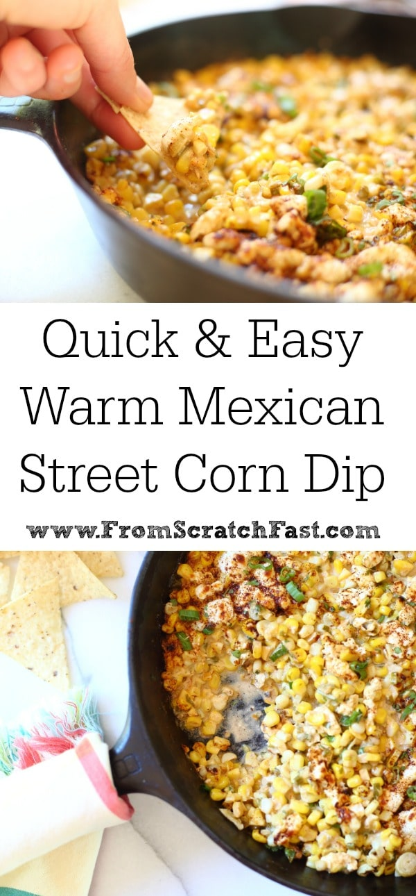 This warm sweet corn dip with jalopenos and feta is the perfect party appetizer!