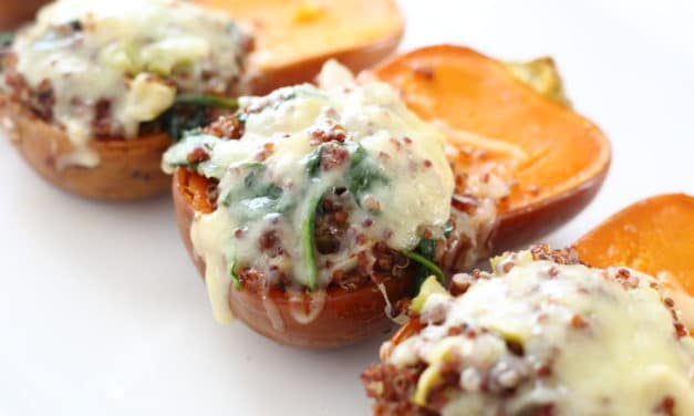 Quinoa & Apple Stuffed Honeynut Squash with Comté Cheese