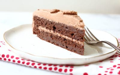 Gluten Free Chocolate Quinoa Cake with Cocoa Whipped Cream Frosting