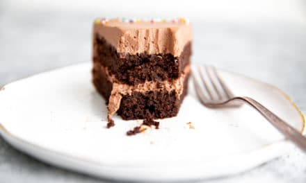 Gluten Free Chocolate Quinoa Cake with Chocolate Whipped Cream Frosting